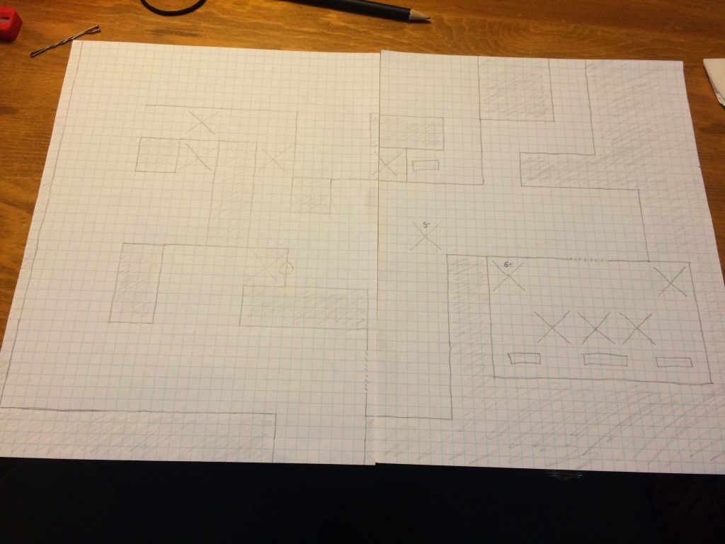Reference maze drawn beforehand